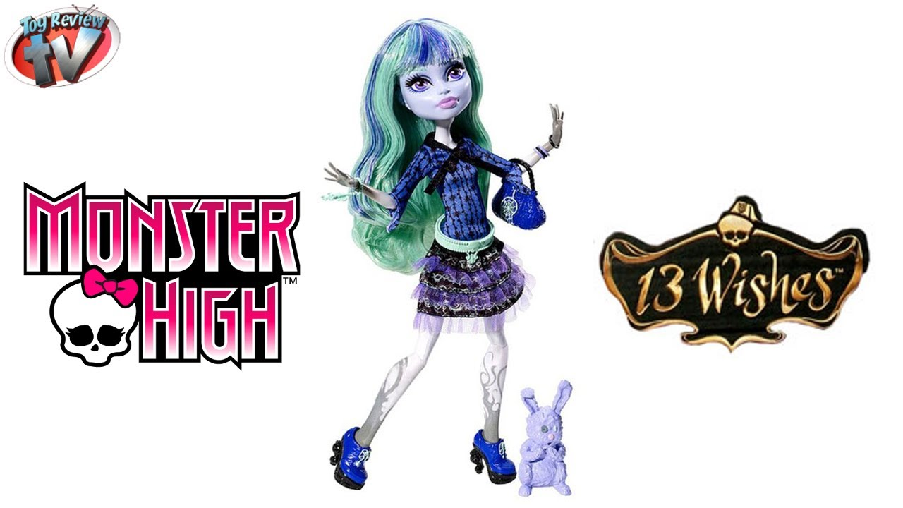 Monster High 13 Wishes Twyla Doll Toy Review, Mattel - YouTube