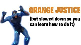 How to do Orange Justice from Fortnite (Slowed down to 30%)