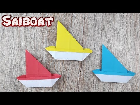 Origami Sailboat Paper | How To Making Easy Folding Instructions Boat Tutorial | DIY Paper Crafts