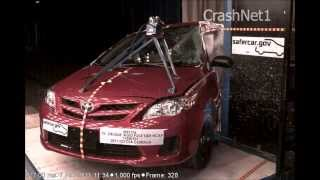 2011 Toyota Corolla | Pole Crash Test | CrashNet1