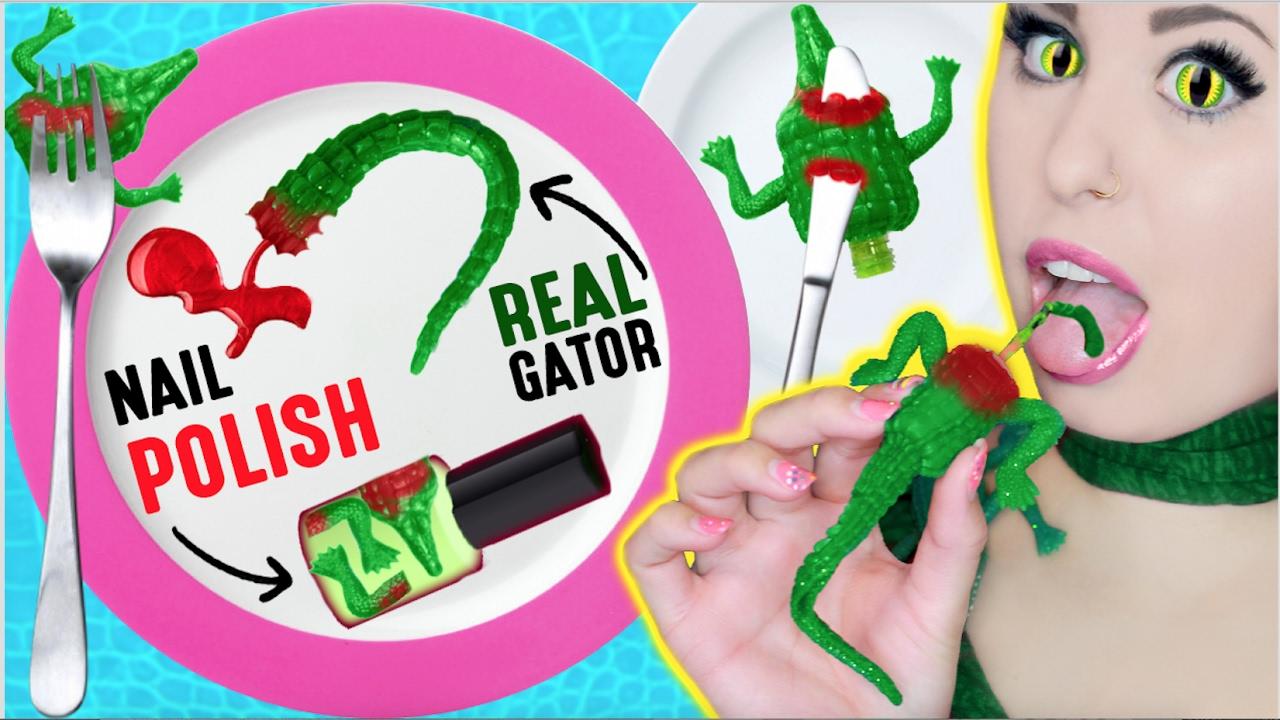 DIY Edible Alligator Meat Nail Polish: Using REAL ...