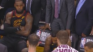 LeBron James New Unseen Heartbreaking Reaction To JR Smith Mistake in Game 1 From The Cavs Bench!