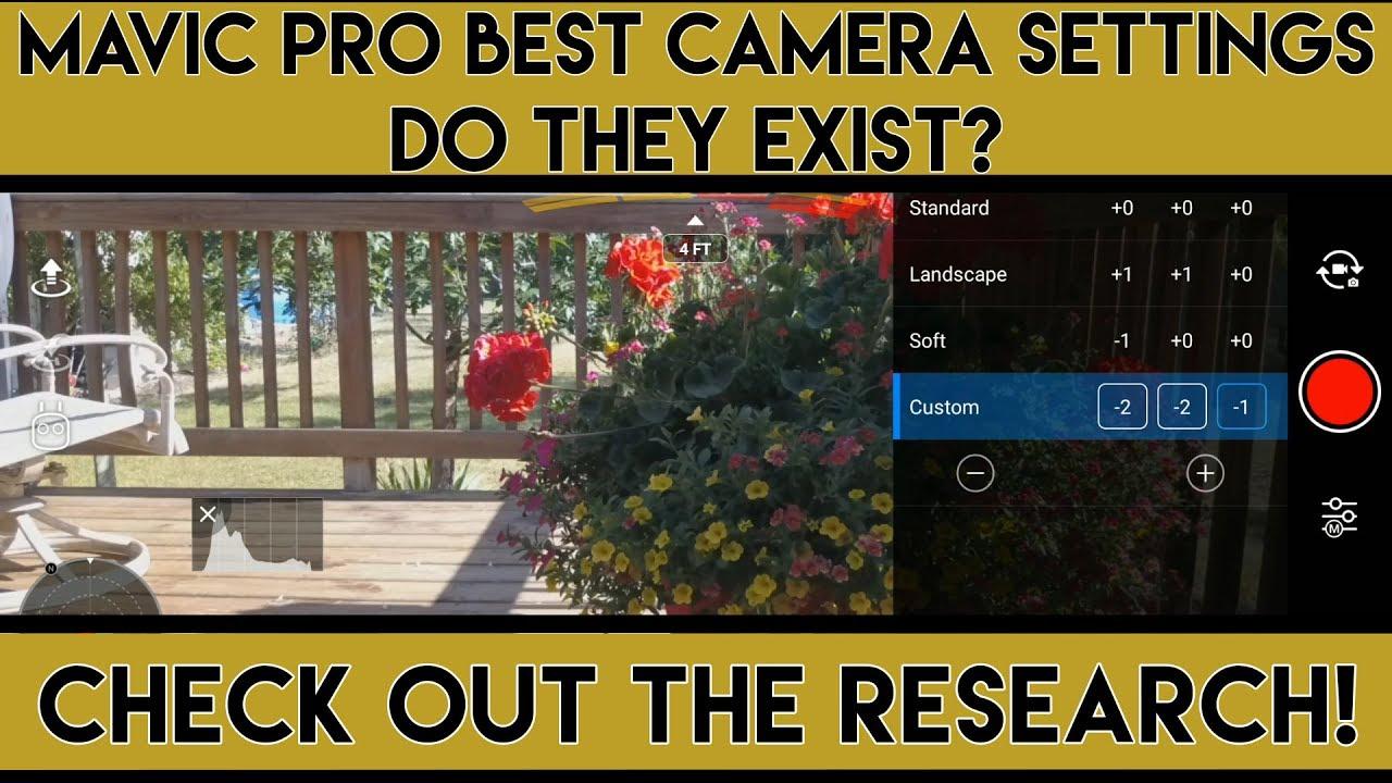 Camera settings  | DJI Mavic Drone Forum