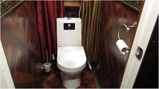 Вот так ТУАЛЕТ. Простой ремонт и отделка туалета  в квартире своими руками. Необычный дизайн.