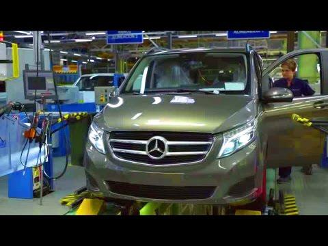 Mercedes V-class  W447 Production. Plant Vitoria, Spain.