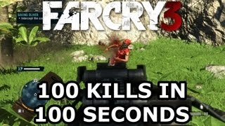 Far Cry 3 - 100 Kills in 100 Seconds [1080p] GT 650M