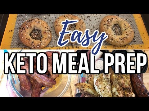 Weekly Keto Meal Prep | Bagels, Italian Sub Roll Ups & More! | Journey To Healthy