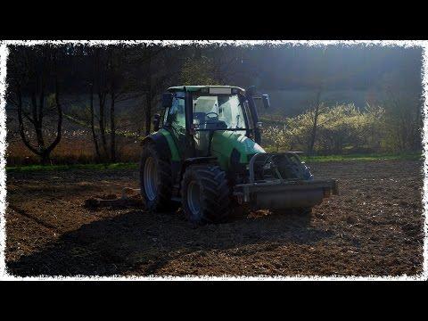Deutz kämpft gegen den Berg   Deutz-Fahr Agrotron 115 MK3 & 5m Ackerschleppe   GoPro [SOUND]