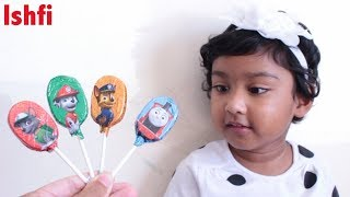 Lollipop Finger Family Song with Real Toddler Ishfi