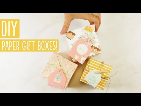 DIY Paper Gift Boxes | We R Memory Keepers Gift Box Punch Board