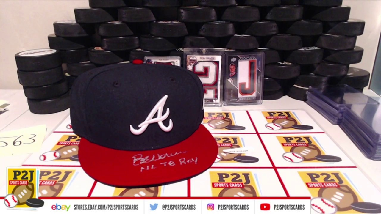 eBay LIVE Breaks - #563 2018 Hit Parade Autograph Pro Style Baseball Hat  #mlb P2J Sports Cards