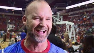 David Ross Plays with the Harlem Globetrotters