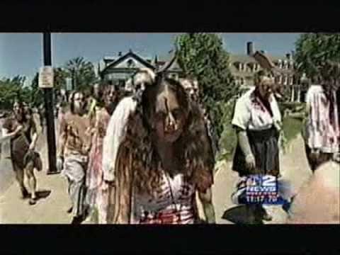 Channel 2 WGRZ News Coverage of the Buffalo Zombie Walk & Pub Crawl