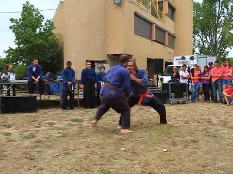 démonstration de nin-jutsu du Jinenkan pour l'ESC Toulouse