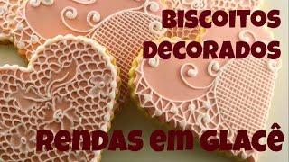 Como decorar biscoitos rendados