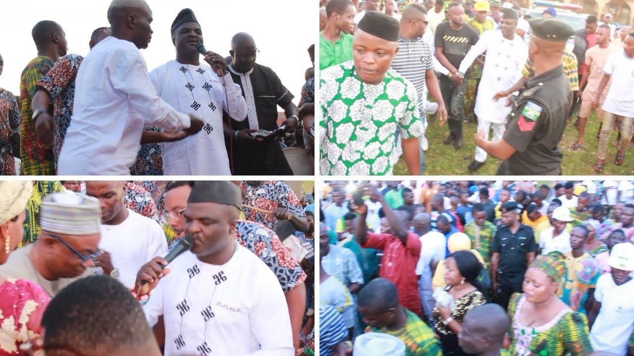 SEE HOW LOVELY PEOPLE WELCOME AGBA AKIN BOBAGUNWA OF YORUBA LAND AT IMEKO TOWN
