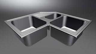 3ds Max для начинающих. Моделирование кухонной мойки в 3ds max Часть 1