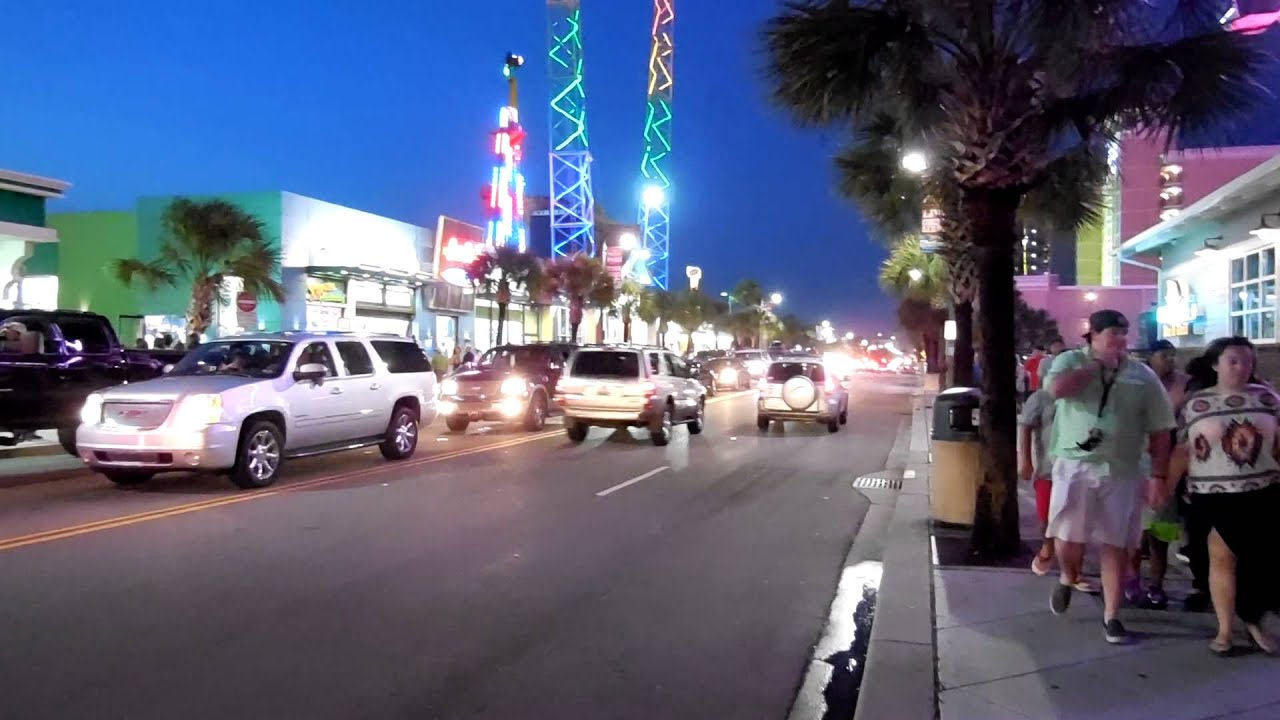 Main Drag Myrtle Beach Strip Pavilion South Carolina