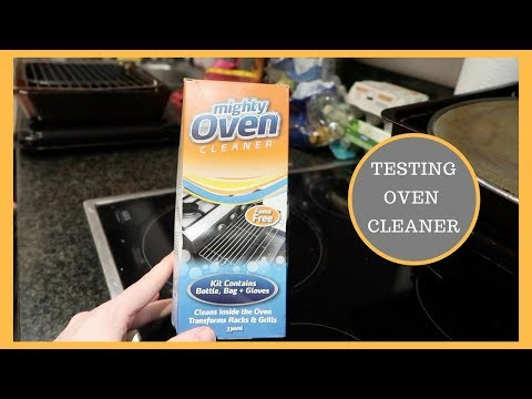 OVEN CLEANING ROUTINE || TESTING CLEANING PRODUCTS