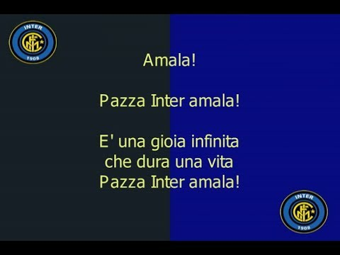 Official Inter Song - Pazza Inter Amala with Lyrics (Interisti Indonesia)