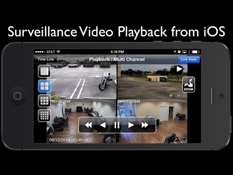Recorded CCTV Surveillance Video Playback on iPhone App