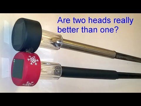 Are two solar light heads better than one? - Garden of Light Series