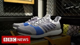 The factory in India making shoes out of plastic bottles - BBC News