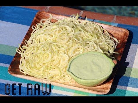 GET RAW-Fideos con Salsa de Aguacate para Reemplazar la Cena!