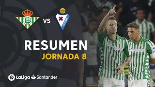Resumen de Real Betis vs SD Eibar (1-1)