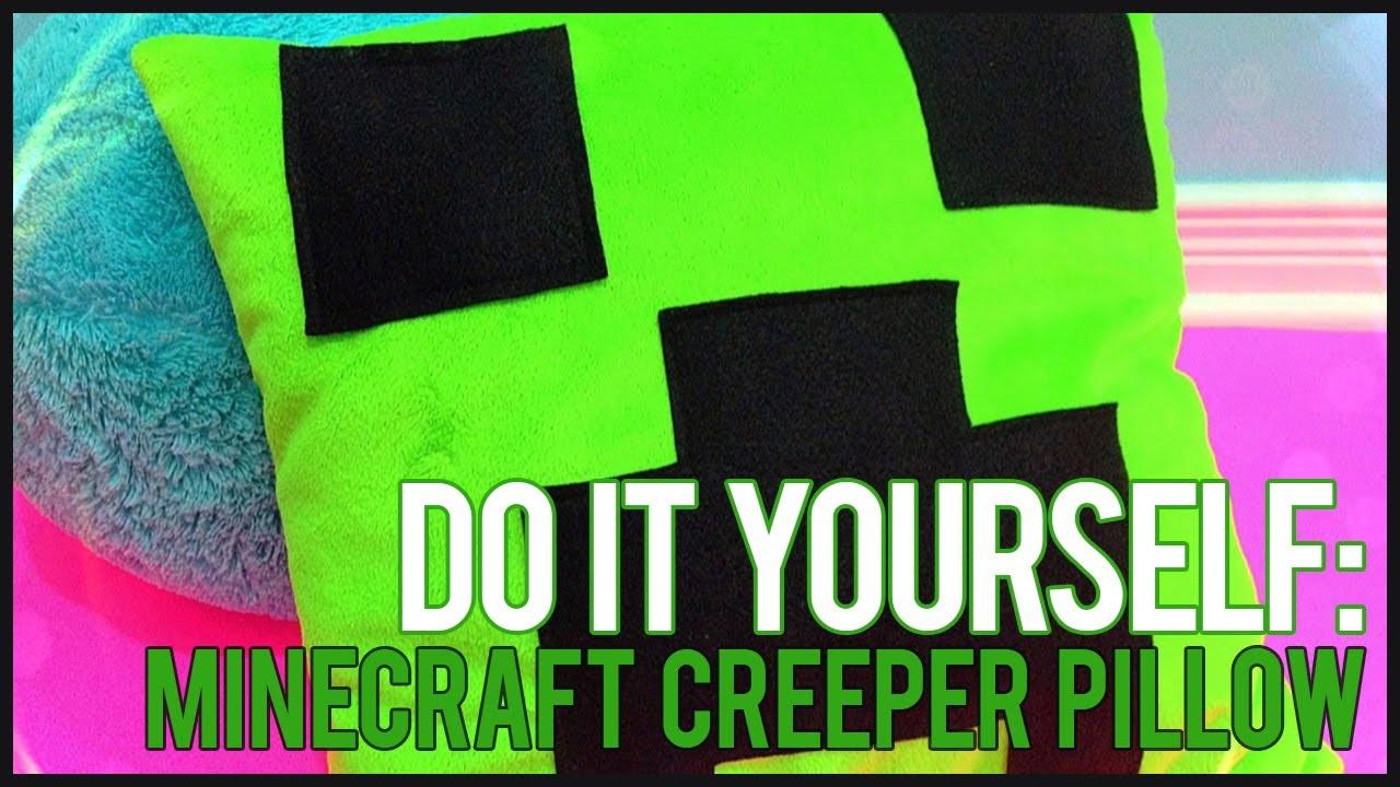 diy minecraft creeper pillow youtube
