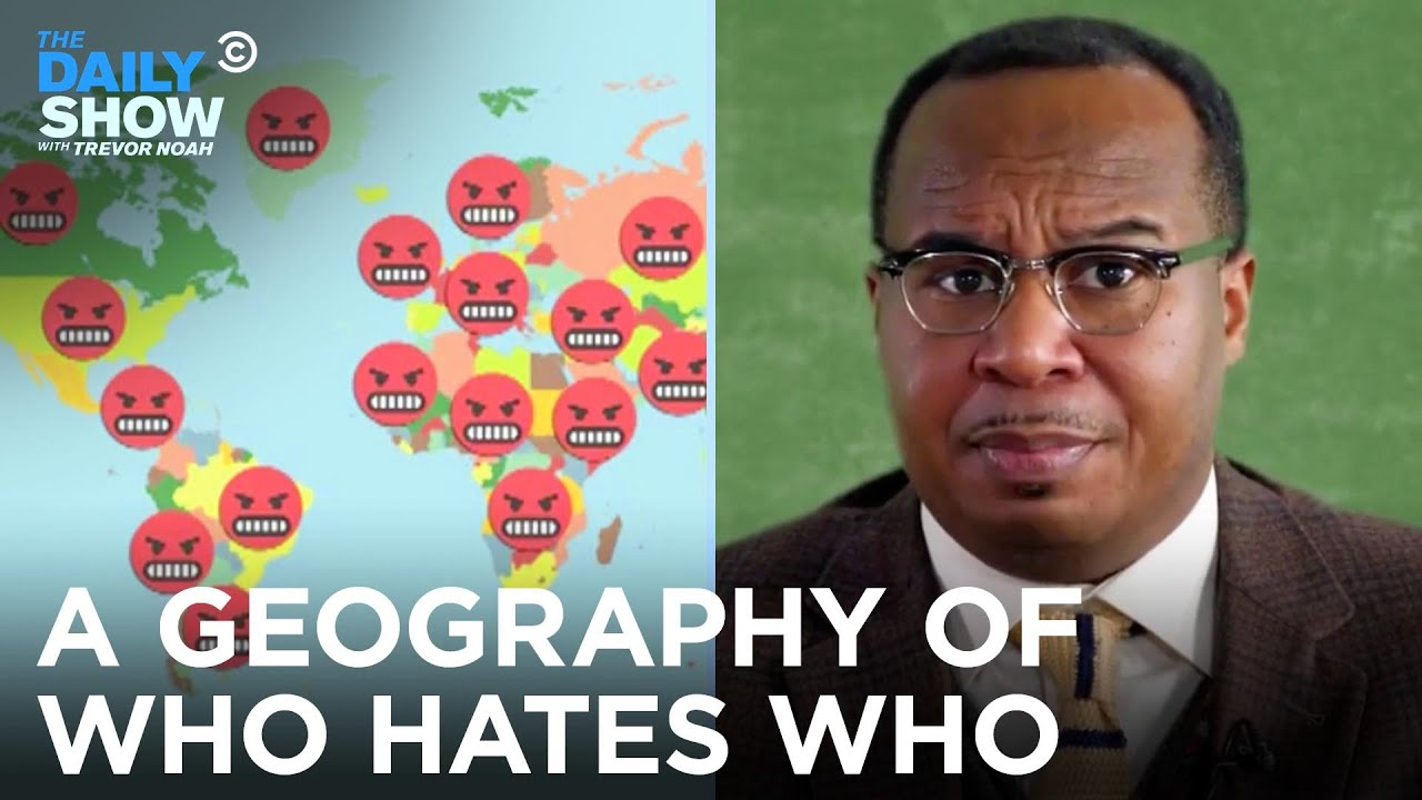 A Geography of Who Hates Who   The Daily Show