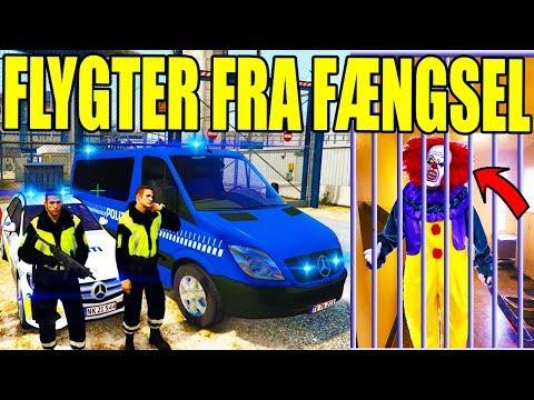 FANGE FLYGTER FRA FÆNGSEL - KLOVNE MORDER - GTA V LSPD:FR - DANSK POLITI [#97]