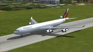 Airbus A340 Loakan landing