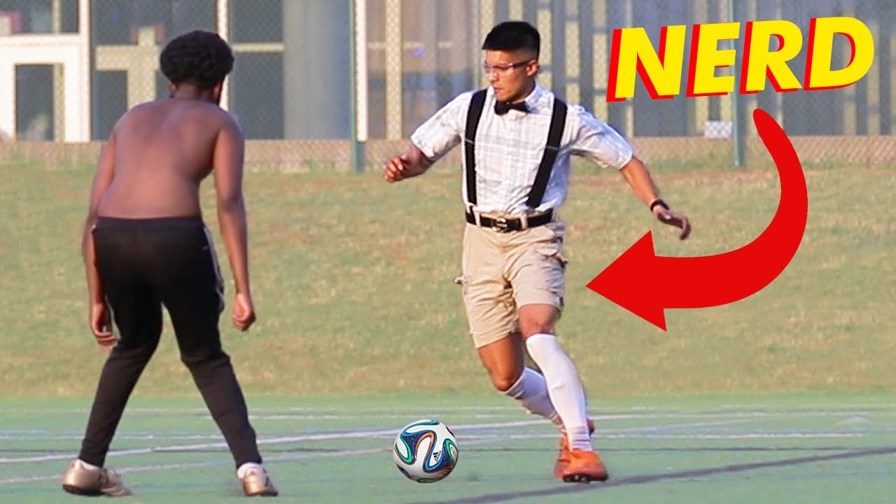 NERD PLAYS SOCCER (football) *ankles broken*