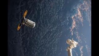 "Cygnus OA-8 ""SS Gene Cernan"" Rendezvous, Grapple, & Berthing (time lapse)"