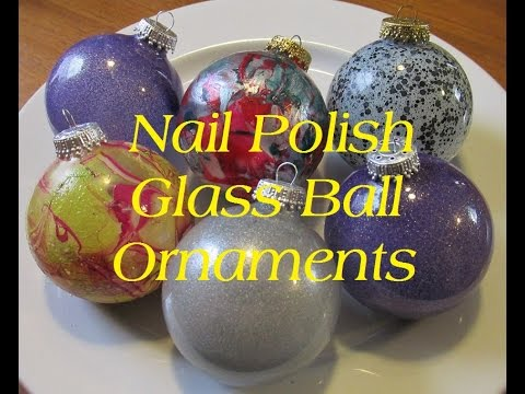 diy nail polish glass ball ornaments - Glass Christmas Bulbs For Decorating