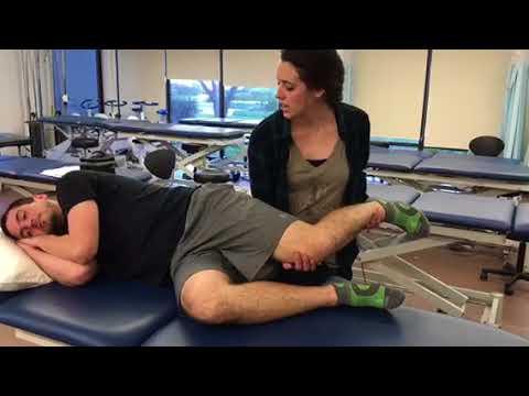 MMT - quadriceps (gravity minimized position) - YouTube