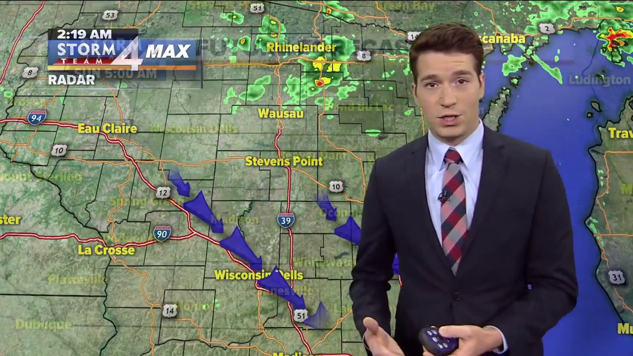 Meteorologist Josh Wurster's Sunday Weather Forecast - YouTube
