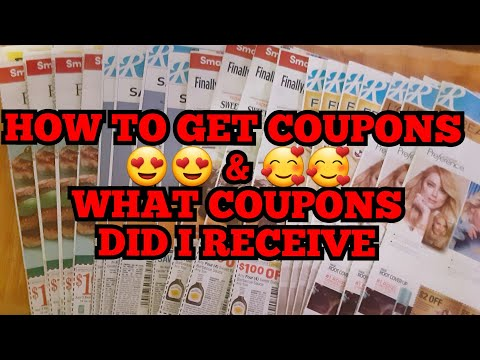 HOW TO GET COUPONS & WHAT COUPONS DID I GET