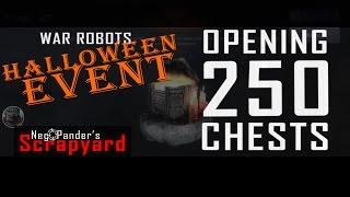 war robots opening 250 halloween chests