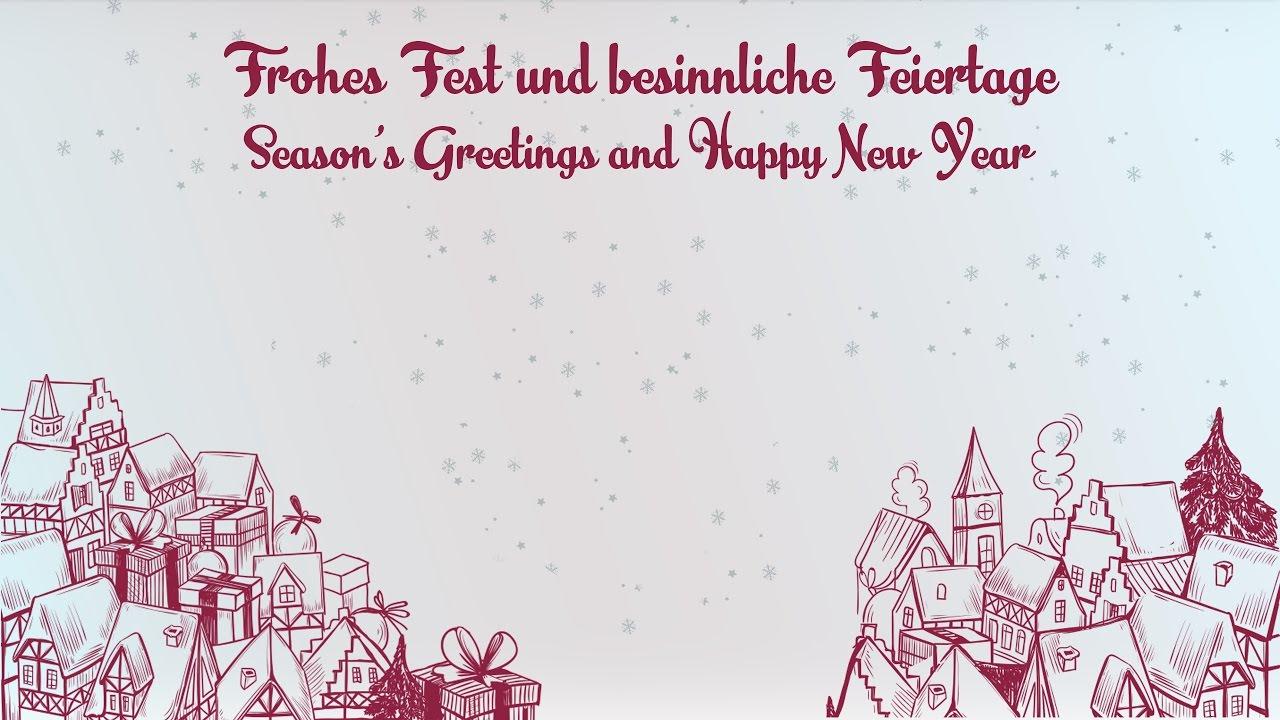 Frohes Fest und ein gutes neues Jahr   Season\'s Greetings and Happy ...