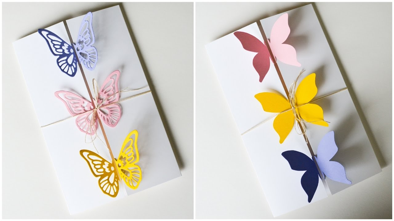 How to Make Greeting Card Butterflies Birthday Mothers Day – Butterfly Birthday Card