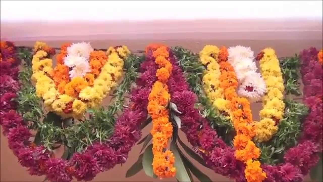 & Flower decoration for Doors for occasions and Functions. - YouTube