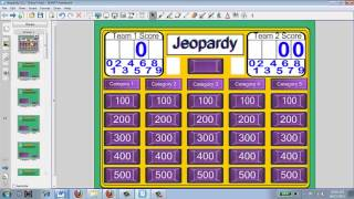 Creating a Jeopardy Game for a Smartboard
