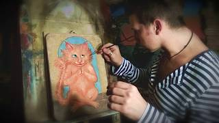 """Настенные панно """"Одесский счастливый кот"""""""