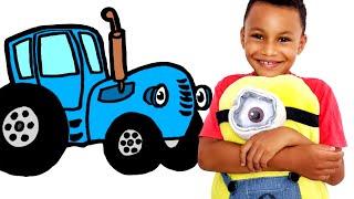 Синий трактор по полям. Песенки для детей, Часть 2. Песенка про цвета.