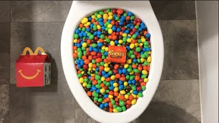 Will it Flush? - Coca Cola, Fanta, M&M's and Reese's Candy