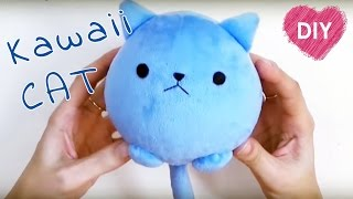 Kawaii plush cat 🐱. Easy tutorial - cute cat!