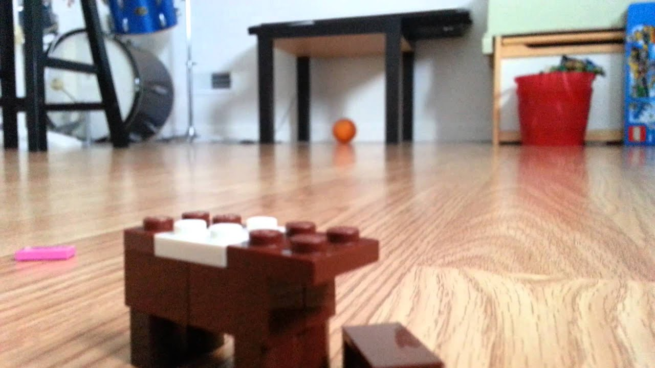 how to make a lego minecraft cow