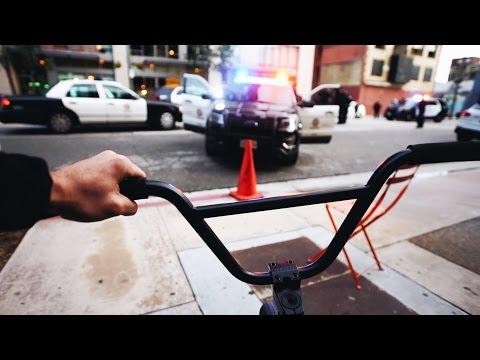 I RODE MY BIKE RIGHT INTO A CRIME SCENE